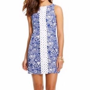 Lilly Pulitzer Upstream Fish Shift Dress Size 2